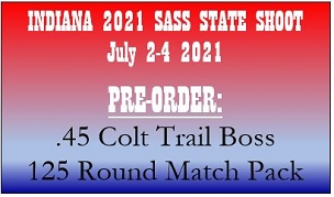 IN STATE PRE-ORDER .45 Colt Trail Boss- 125 Round Match Pack